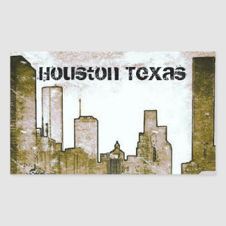 Houston Texas Skyline Stickers