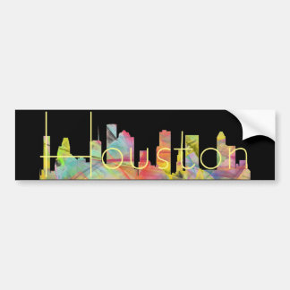 HOUSTON TEXAS SKYLINE WB1 - BUMPER STICKER