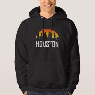 Houston Texas Sunset Skyline Hoodie