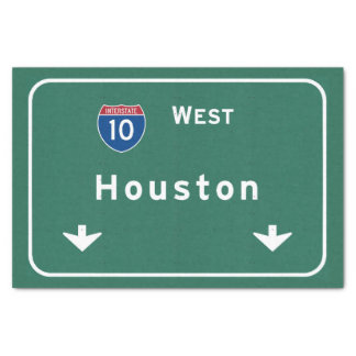 Houston Texas tx Interstate Highway Freeway Road : Tissue Paper
