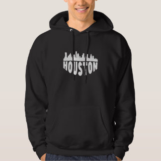 Houston TX Cityscape Skyline Hoodie