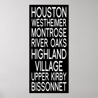 Houston | Typography Poster