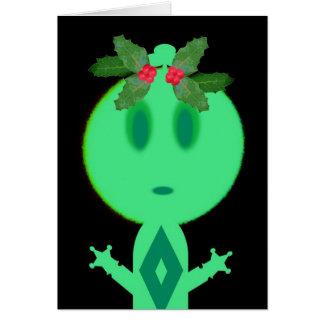 Houx sur le petit homme vert carte de vœux