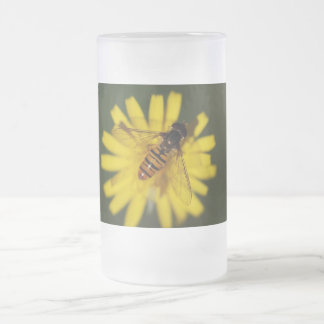 Hover Fly Photo Frosted Glass Beer Mug