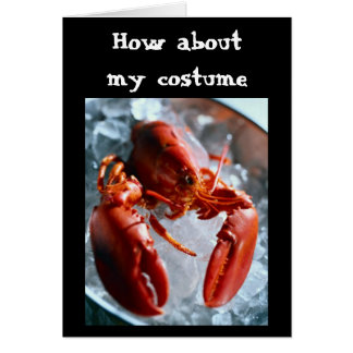 HOW ABOUT  MY COSTUME=HALLOWEEN GREETING CARD