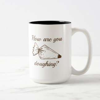 How Are You Doughing? Two-Tone Coffee Mug