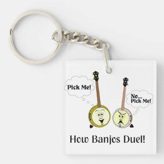 How Banjos Duel Single-Sided Square Acrylic Keychain