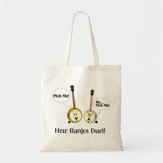 How Banjos Duel Tote Bag