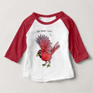 How Birds Wave Cardinal Baby T-Shirt