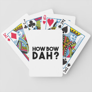 How Bow Dah Bicycle Playing Cards
