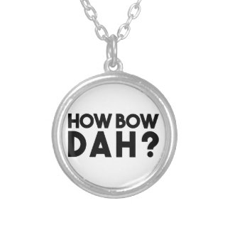 How Bow Dah Silver Plated Necklace