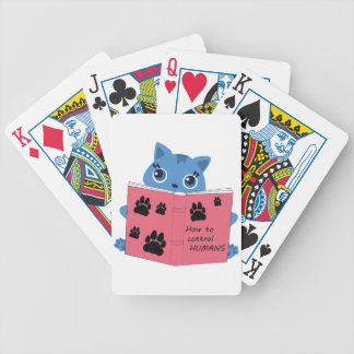 how cats control humans bicycle playing cards