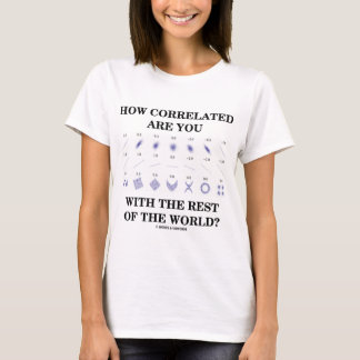 How Correlated Are You With The Rest Of The World? T-Shirt