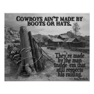 How cowboys are made poster