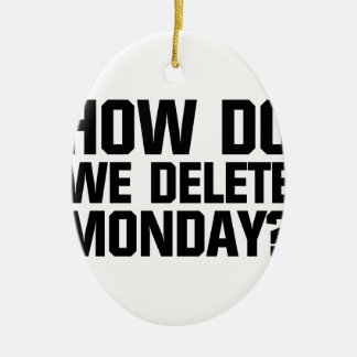 How Do We Delete Monday? Ceramic Ornament
