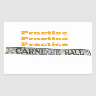 How Do You Get To Carnegie Hall Sticker