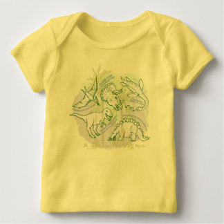 How do you say Dinosaurs baby t-shirt