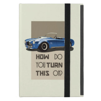 How do you turn this on blue cobra car case for iPad mini