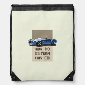 How do you turn this on blue cobra car drawstring bag