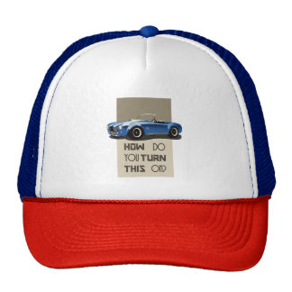 How do you turn this on blue cobra car trucker hat