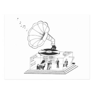 How does a Gramophone actually work? Postcard