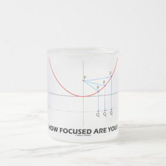 How Focused Are You? (Parabola Graph) Frosted Glass Coffee Mug