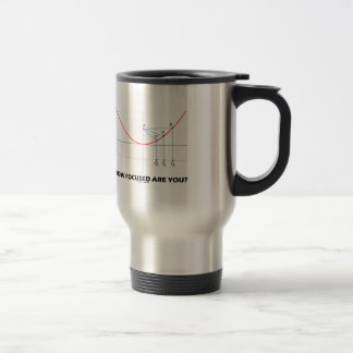 How Focused Are You? (Parabola Graph) Travel Mug
