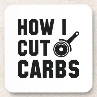 How I Cut Carbs Coaster