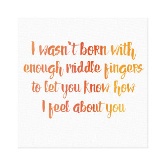 How I Feel About You Canvas Print