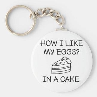 How I Like My Eggs Keychain