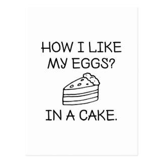 How I Like My Eggs Postcard