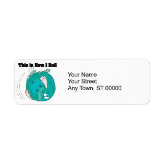 How I Roll (Bowling Ball) Return Address Label