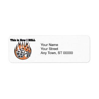 How I Roll (Dice) Return Address Label
