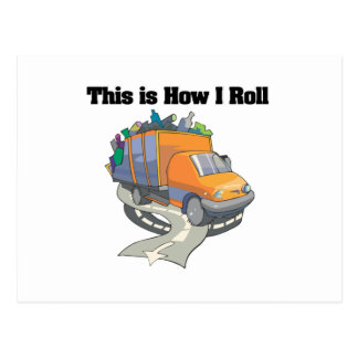 How I Roll (Garbage Truck) Postcard