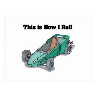 How I Roll (Go Cart) Postcard