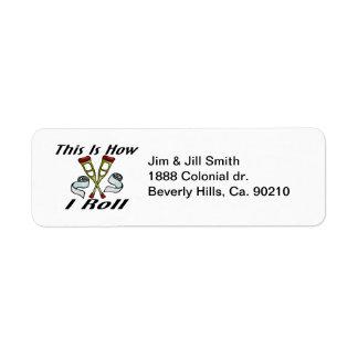 How I Roll Injured Return Address Label