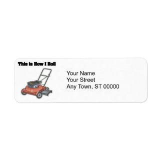 How I Roll (Lawn Mover) Return Address Label