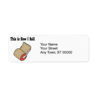 How I Roll Mail Packing Tape Return Address Label