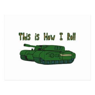 How I Roll (Military Tank) Postcard