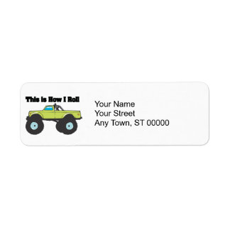 How I Roll (Monster Truck) Return Address Label