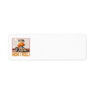 How I Roll Return Address Label