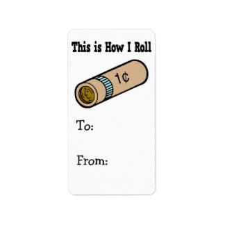 How I Roll Rolled Coins Address Label