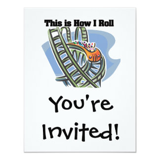 How I Roll (Roller Coaster) Card