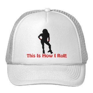 How I Roll Roller Derby Girl Trucker Hat