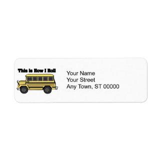 How I Roll (School Bus) Return Address Label