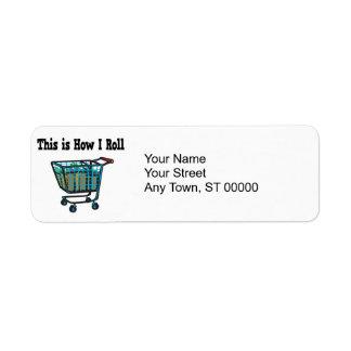How I Roll Shopping Cart Return Address Label