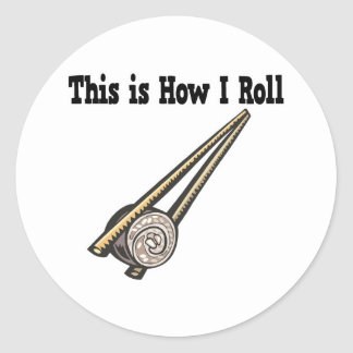 How I Roll Sushi Rice Roll Classic Round Sticker