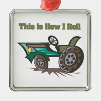 How I Roll (Tractor) Metal Ornament