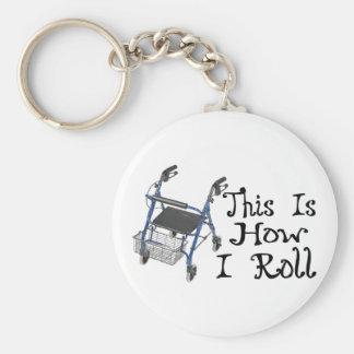 How I Roll Walker Keychain