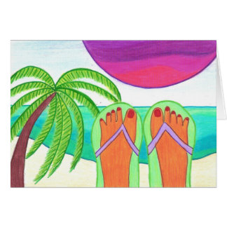 How I Spent My Summer Vacation BLANK GREETING CARD